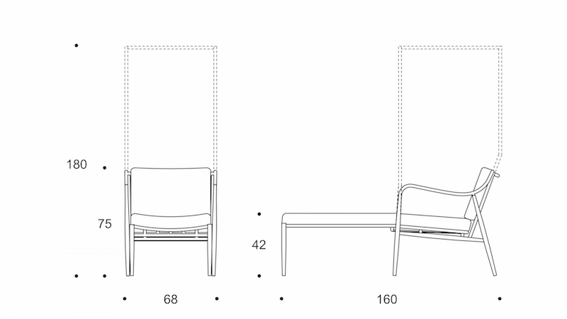myittha chaise lounge with canopy drawing  sc 1 st  plus-sense.com & Myittha Chaise Lounge with Canopy u2013 +SENSE Lounger